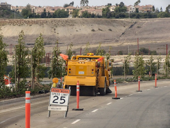 Road Work Sweeping in Southern California, Orange County