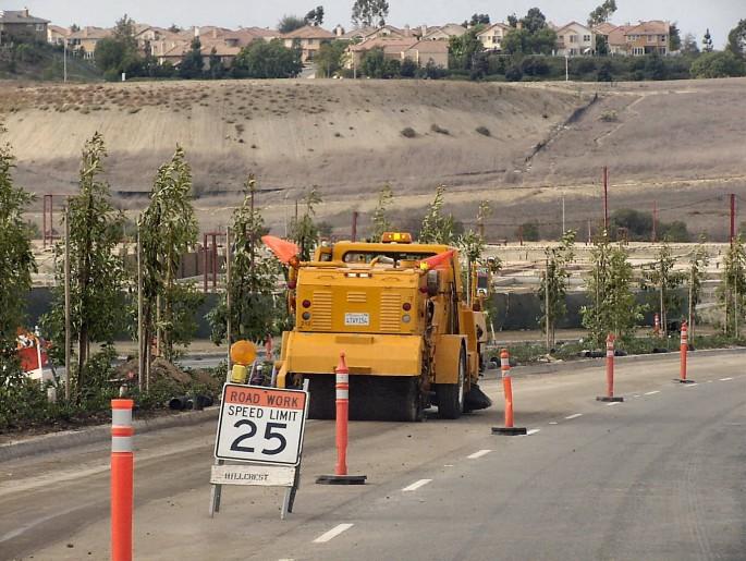 Road Work Sweeping in Southern California, Orange County