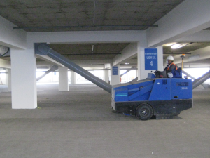 Indoor Sweeping Parking Structure in Southern California and Orange County